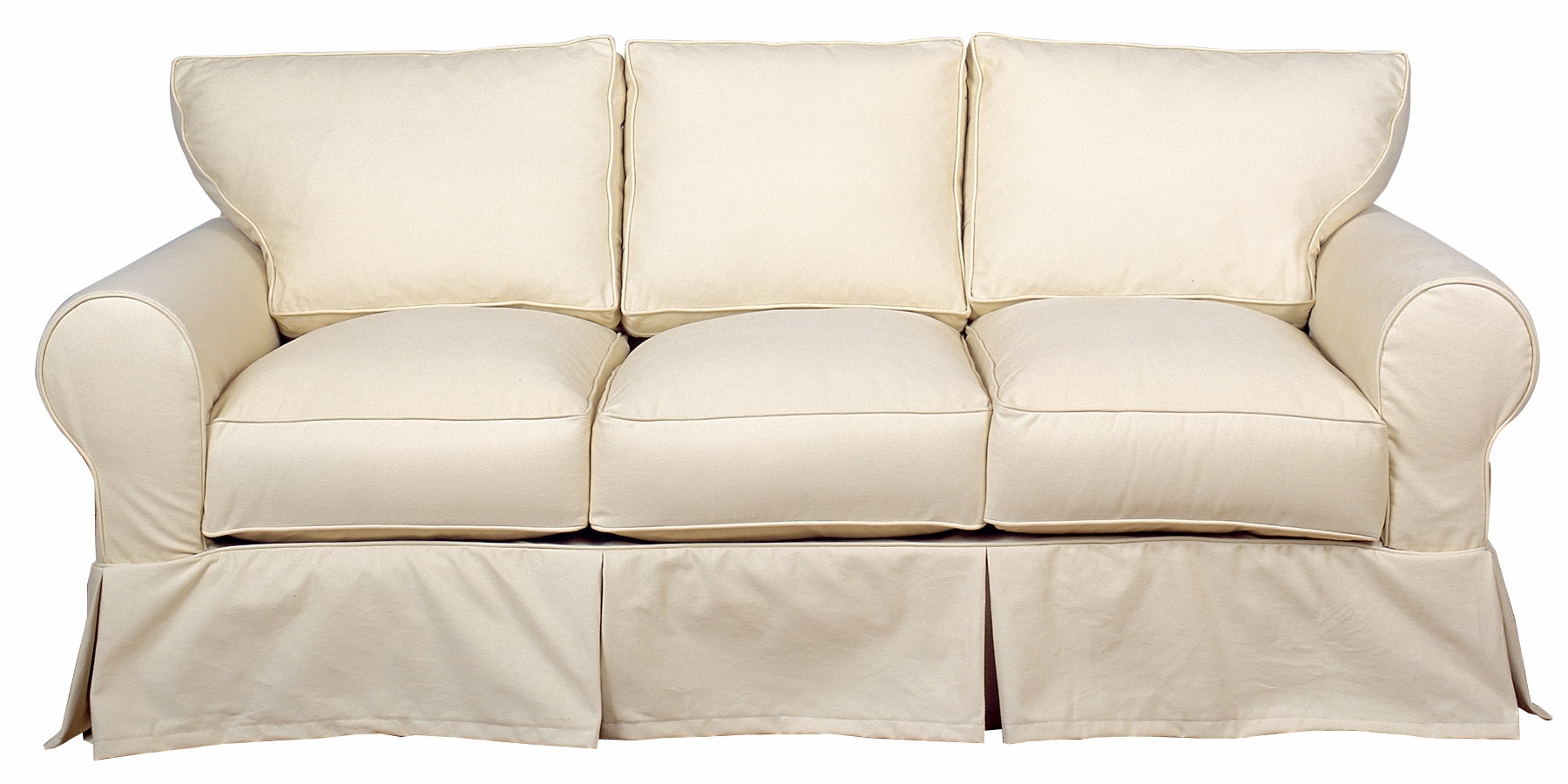 3 Piece T Cushion Sofa Slipcover | T Cushion Sofa Slipcover | Slipcovers for T Cushion Sofas