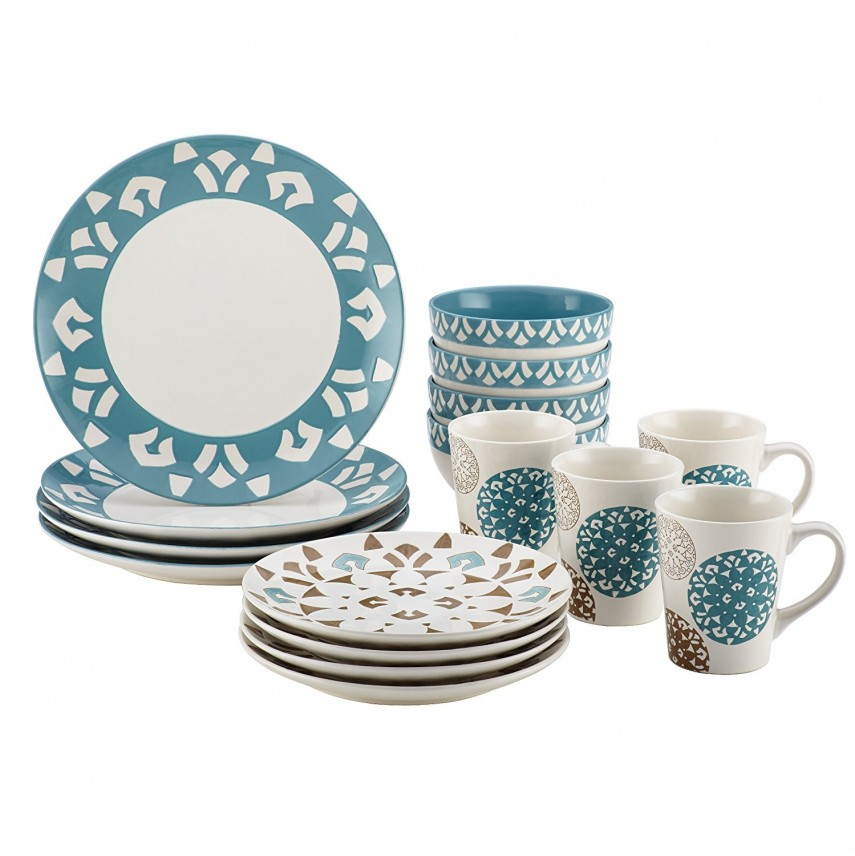40 Piece Dinnerware Set | Owl Dinnerware Sets | Stoneware Dinnerware Sets
