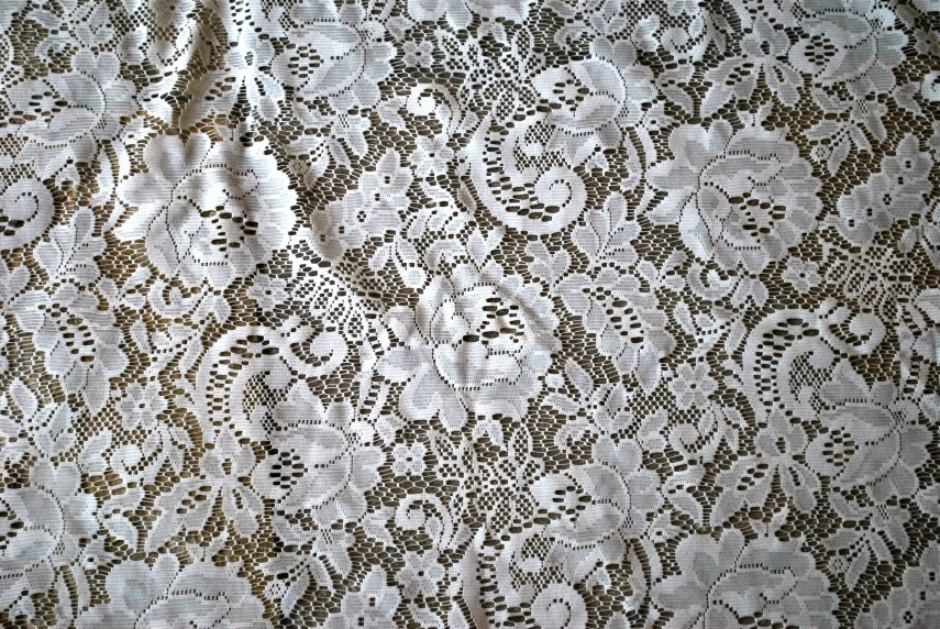 80 Inch Round Tablecloth | Nottingham Lace Tablecloths | Lace Tablecloths