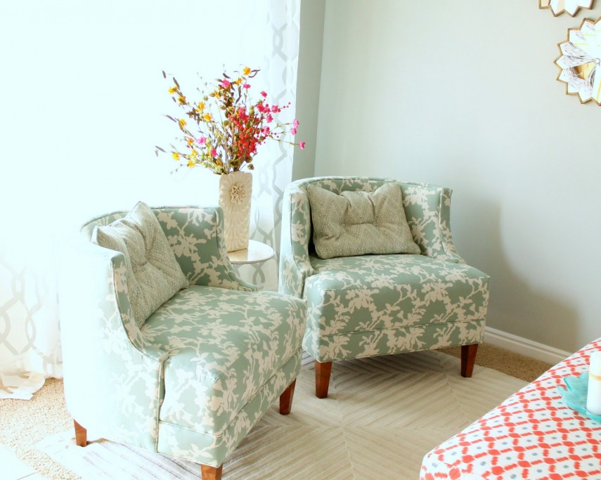 Accent Chairs Under 100 | Upholstered Arm Chair | Armless Accent Chair