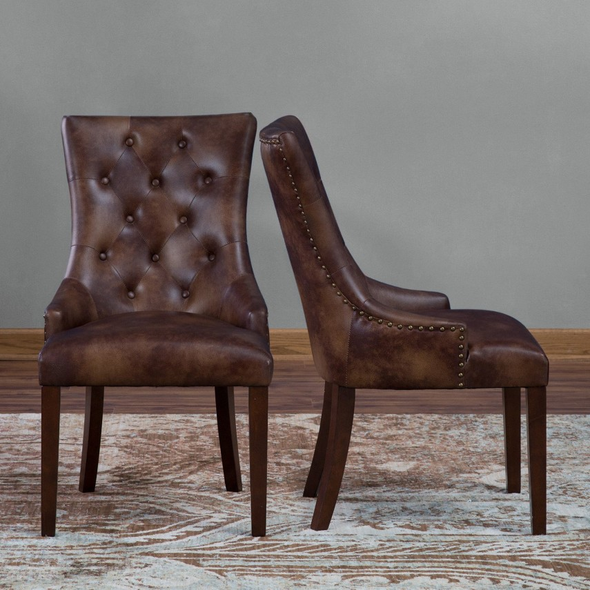 Accent Dining Chairs | Tufted Dining Chair | Ivory Dining Chairs