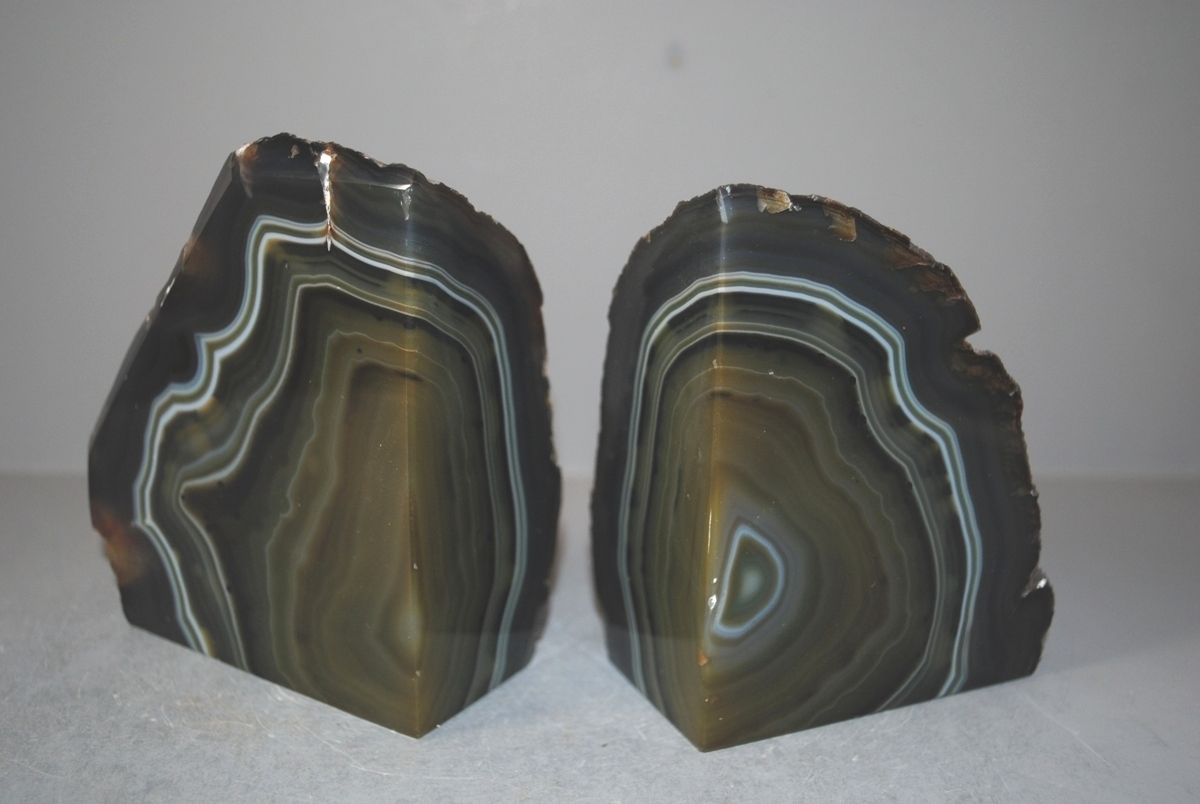 Amazing Geode Bookends | Cute Blue Agate Bookends