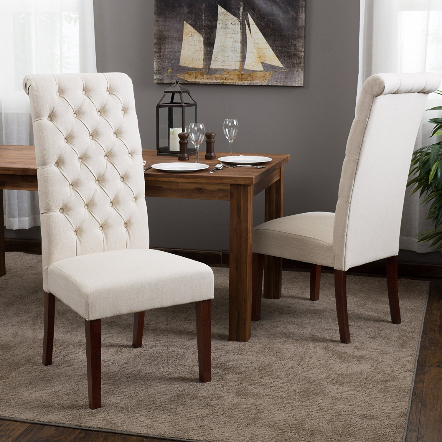 Amazon Dining Chairs | Ring Back Dining Chair | Tufted Dining Chair