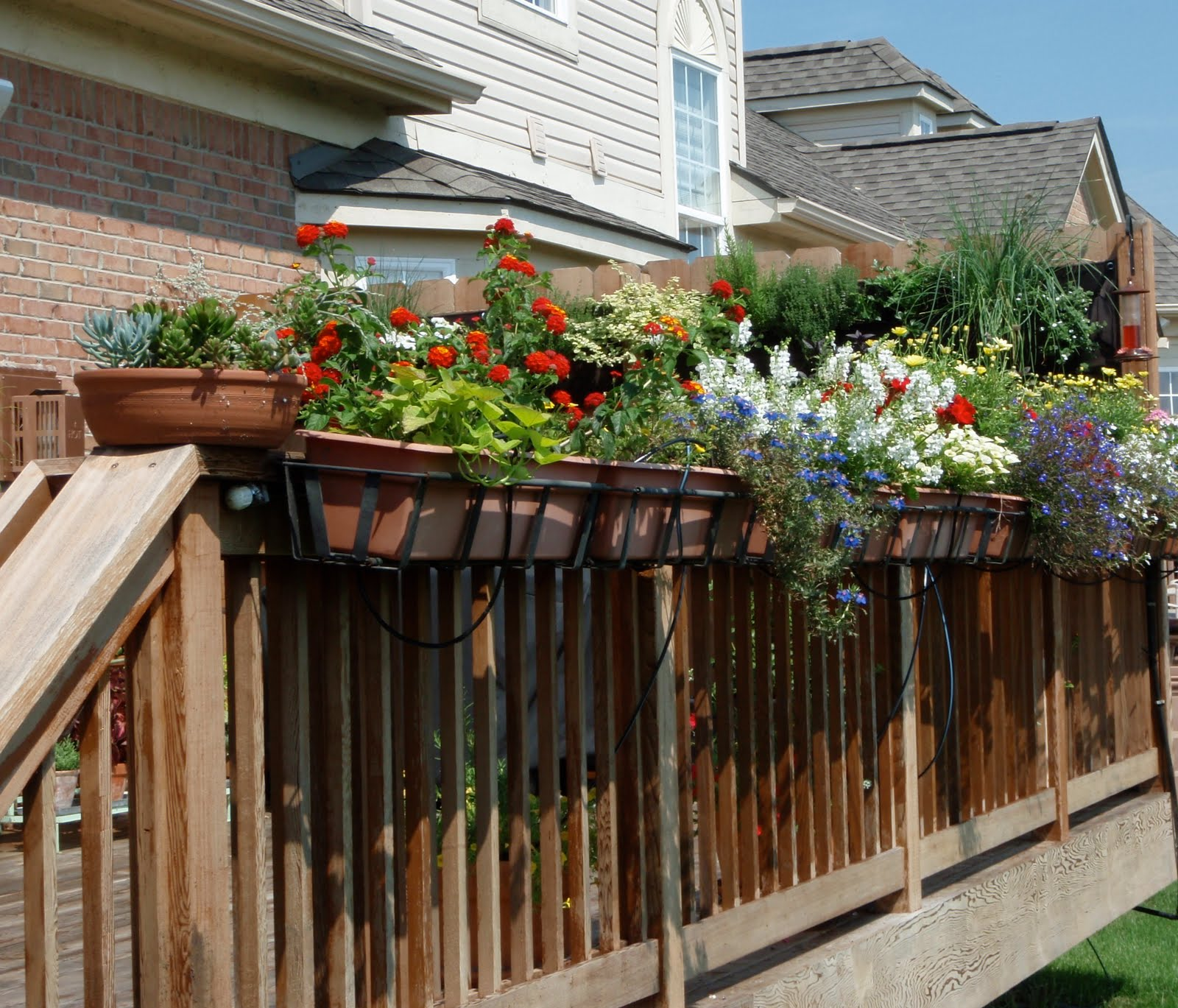 Banister Planters | Deck Rail Planters | Over The Rail Planters