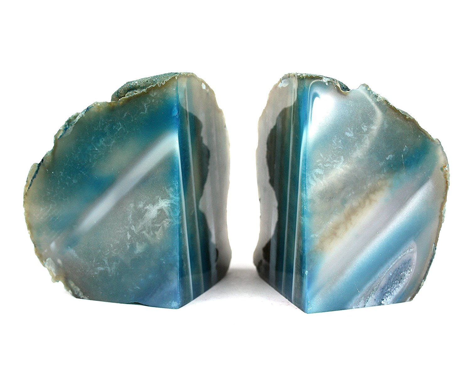 Beautiful Geode Bookends | Extravagant Rock Bookends
