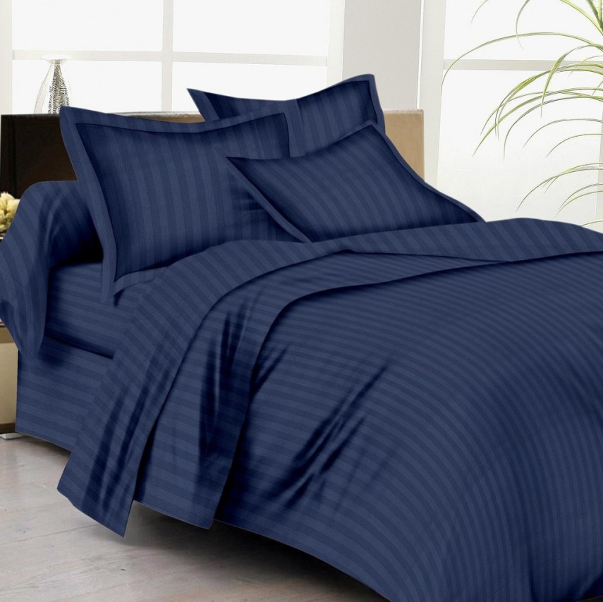Bed In A Bag Full | Navy Blue Comforter | Yellow Comforter Set