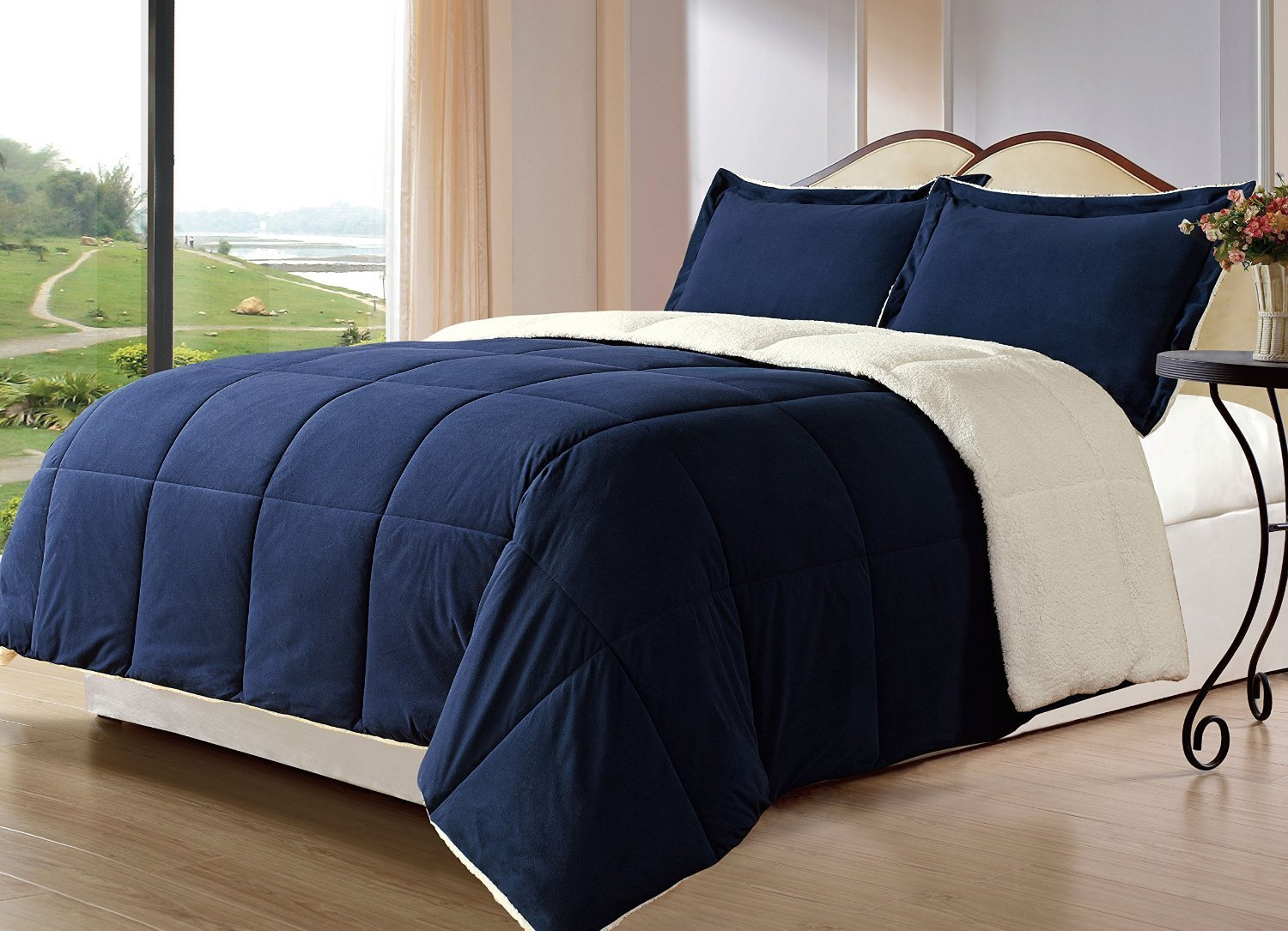 Bed in A Bag | Twin Bed Comforters | Navy Blue Comforter