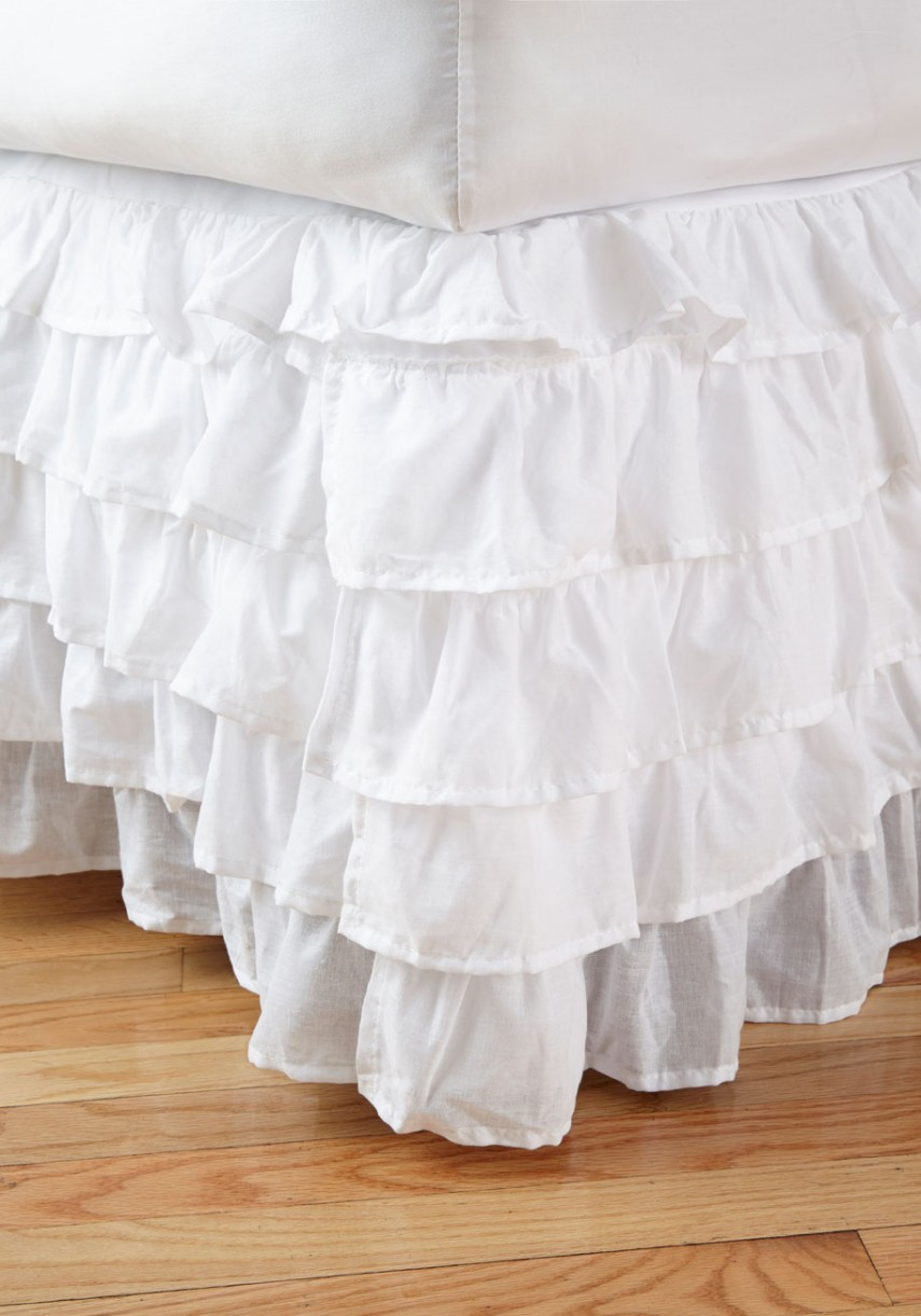 Bed Ruffle | Twin Xl Bedskirt | Bed Skirts Queen