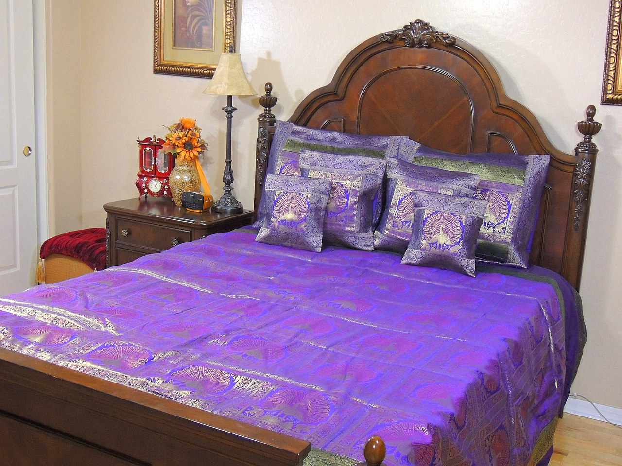 Bedspread or Comforter | Peacock Pillow Case | Peacock Bedding