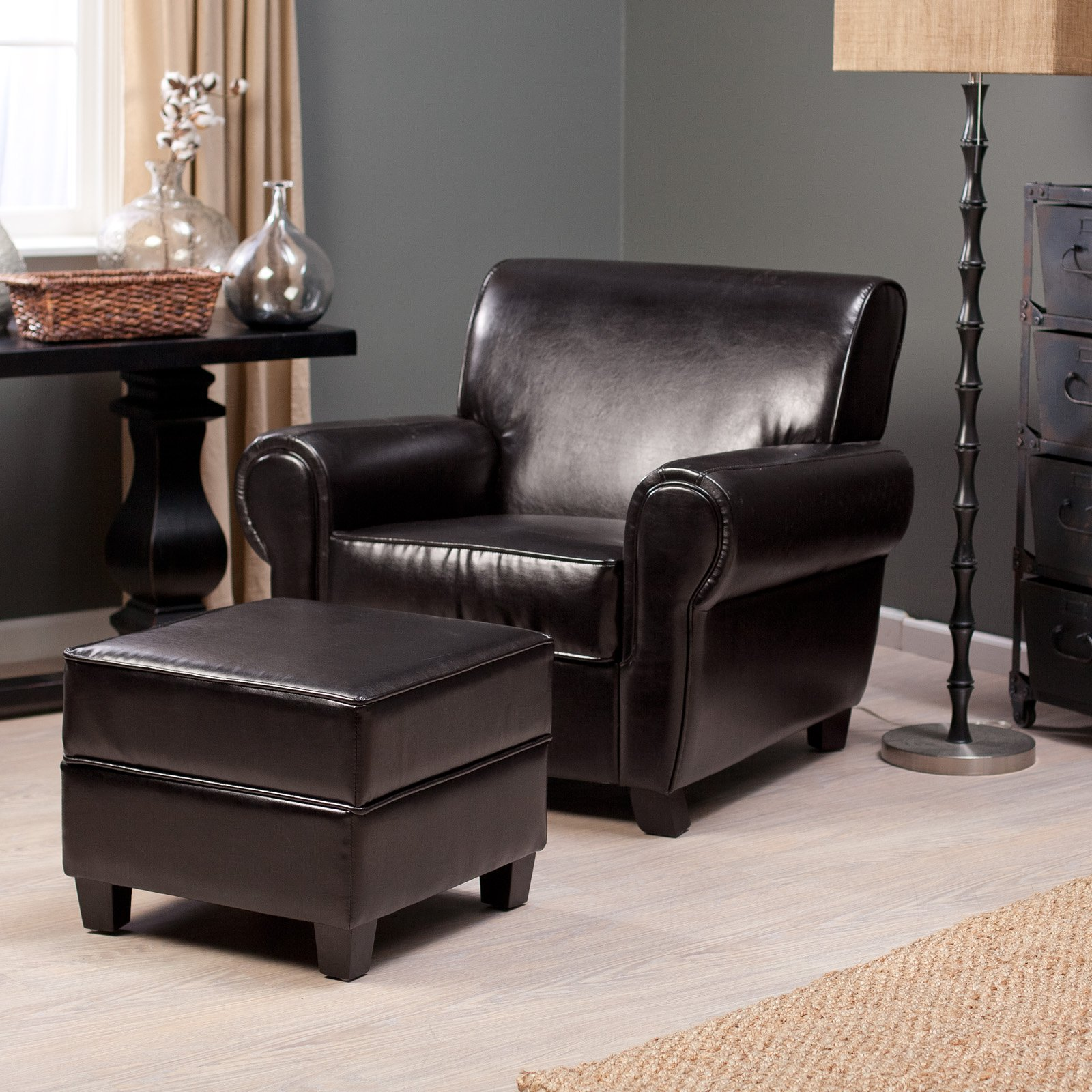 Bernhardt Chairs | Accent Arm Chairs | Leather Chair and Ottoman