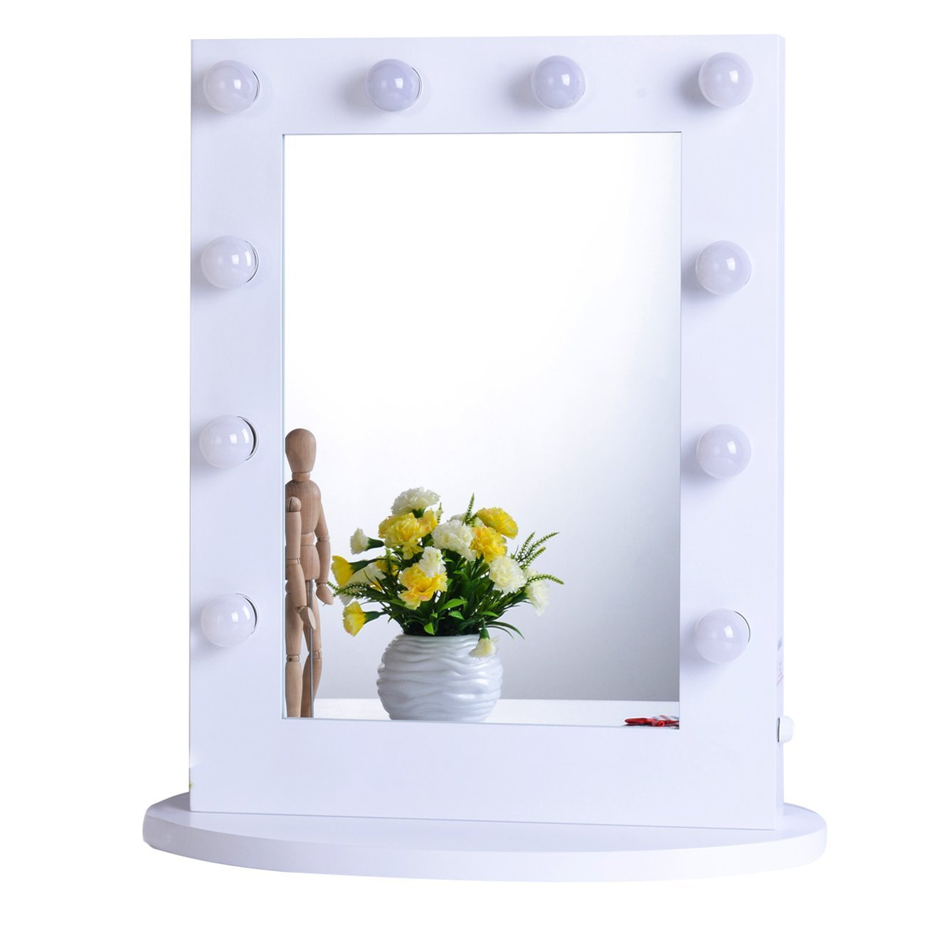Best Lighted Makeup Mirror | Vanity Mirror with Light Bulbs | Tabletop Vanity Mirror