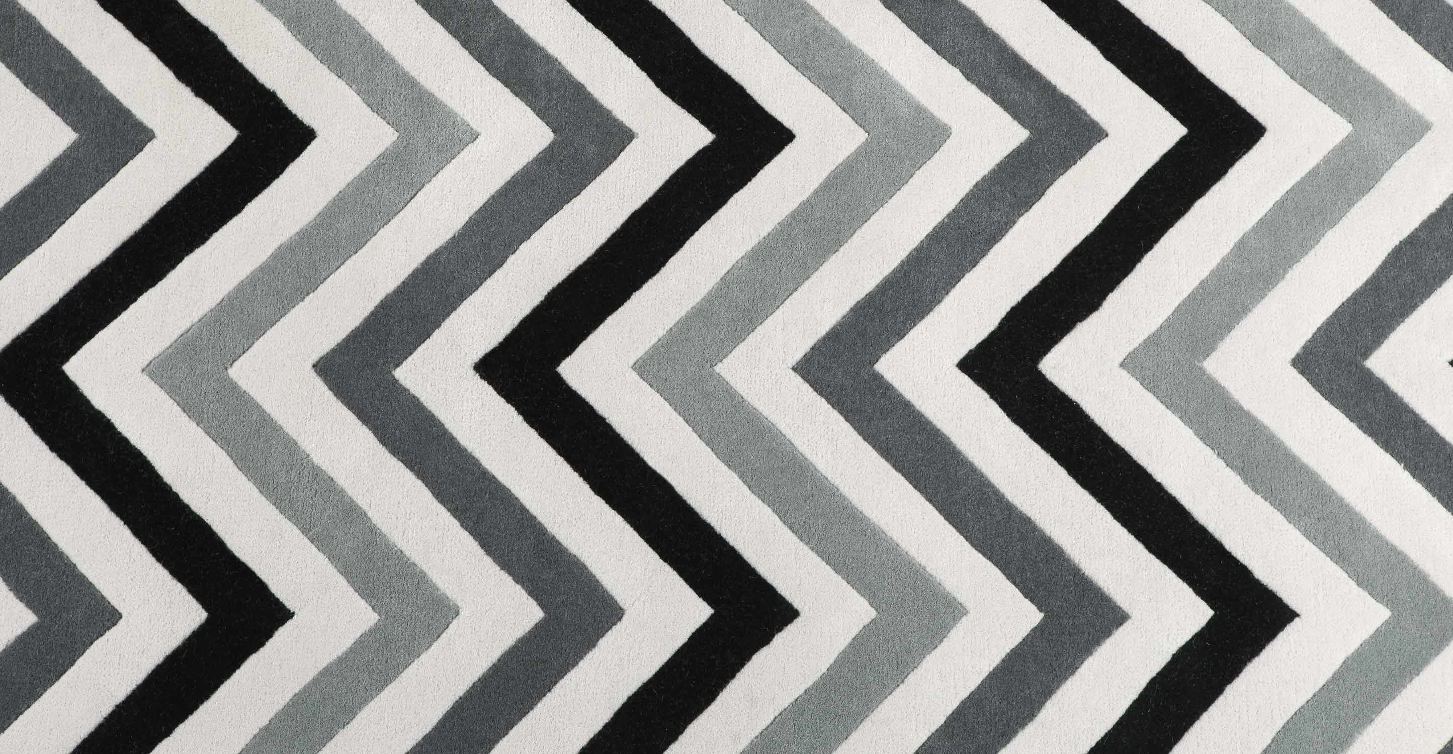 Black and White Chevron Area Rug | Chevron Round Rug | Chevron Rug