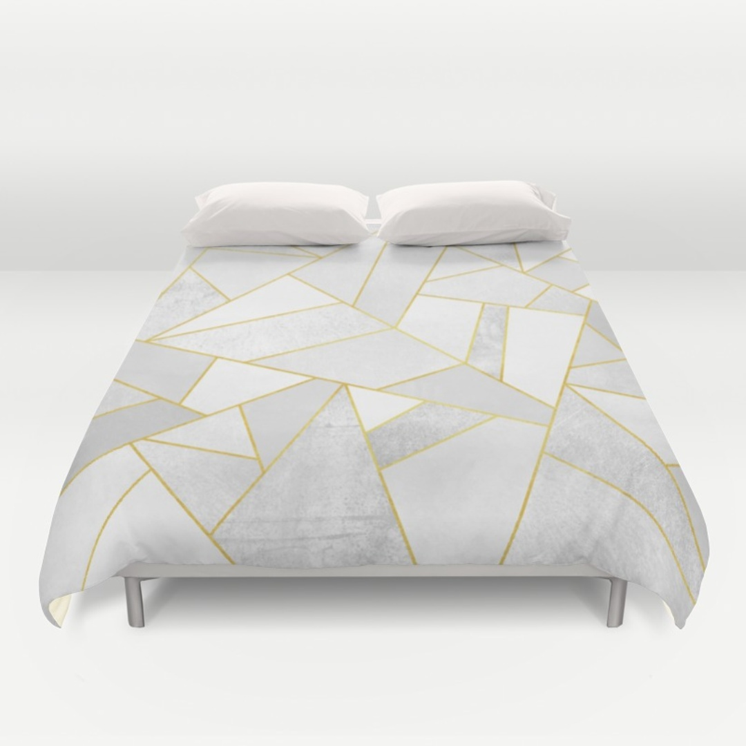 Black and White Queen Duvet Cover | King Size Duvet | White Duvet Cover