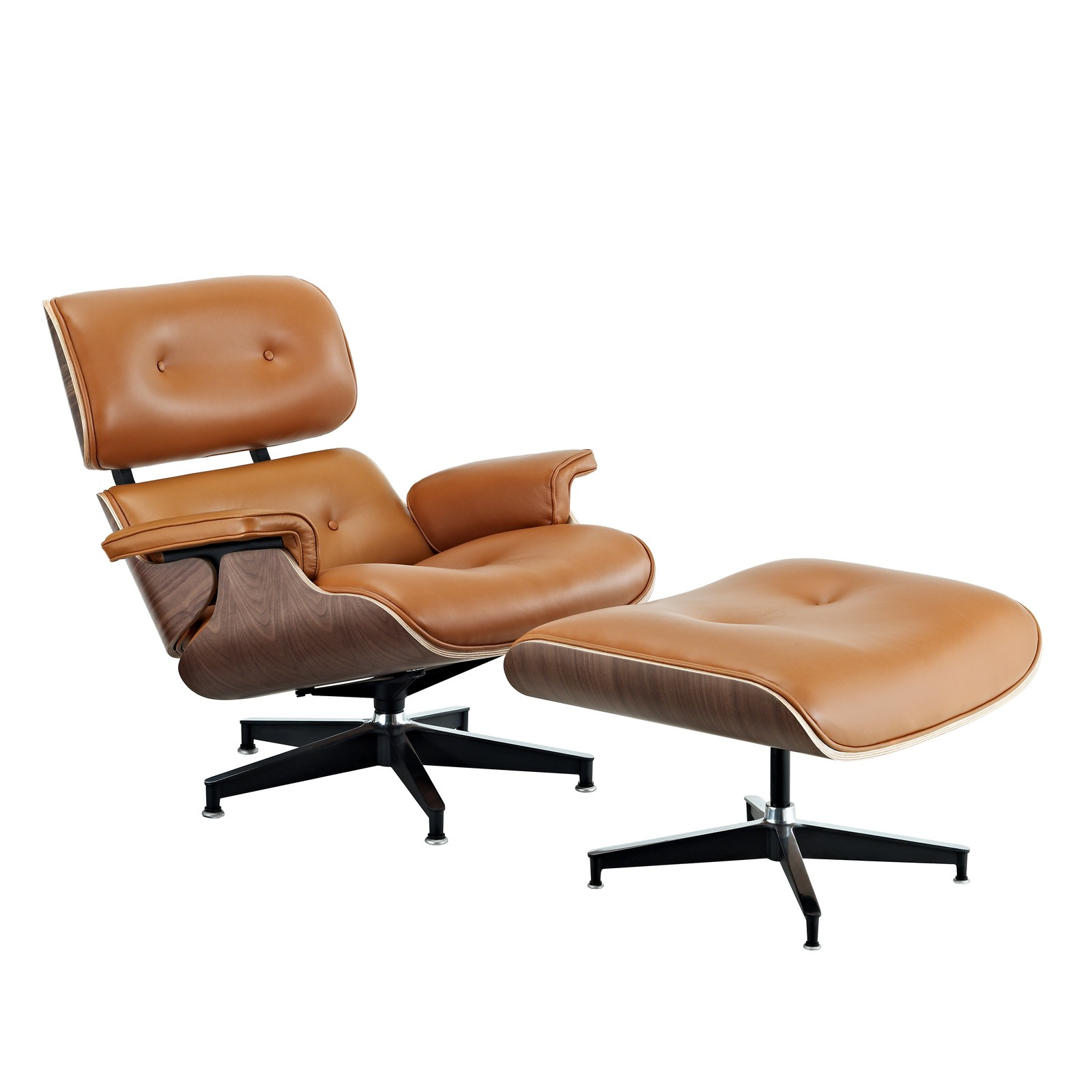 Bonded Leather Chair and Ottoman | Reclining Chair with Ottoman | Leather Chair and Ottoman