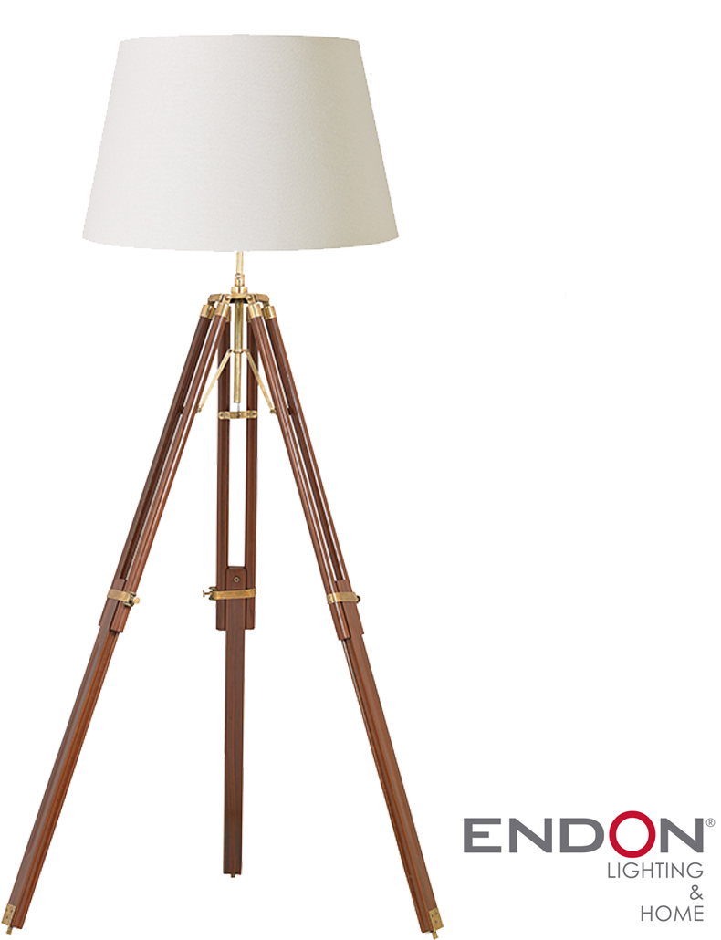 Brass Tripod Lamp | Tripod Lamp | Royal Marine Tripod Floor Lamp