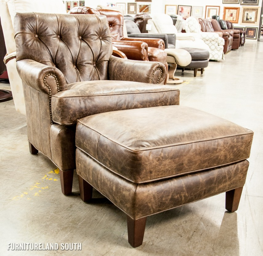 Brown Leather Chair And Ottoman | Leather Lounge Chair And Ottoman | Leather Chair And Ottoman