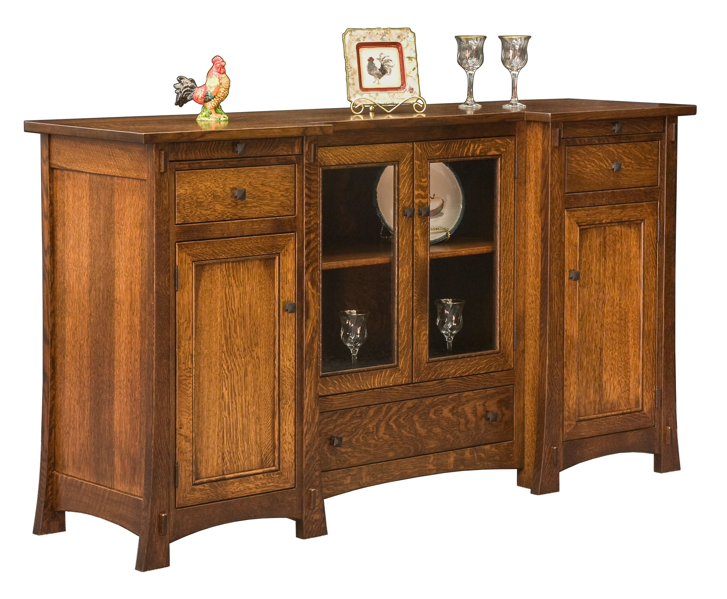 Buffet with Wine Rack | Buffets and Sideboards | Mirrored Sideboards and Buffets