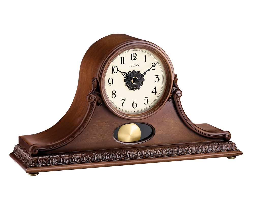 Bulova Frank Lloyd Wright Collection Mantel Clock | Bulova Mantel Clock | Silver Clocks Mantel
