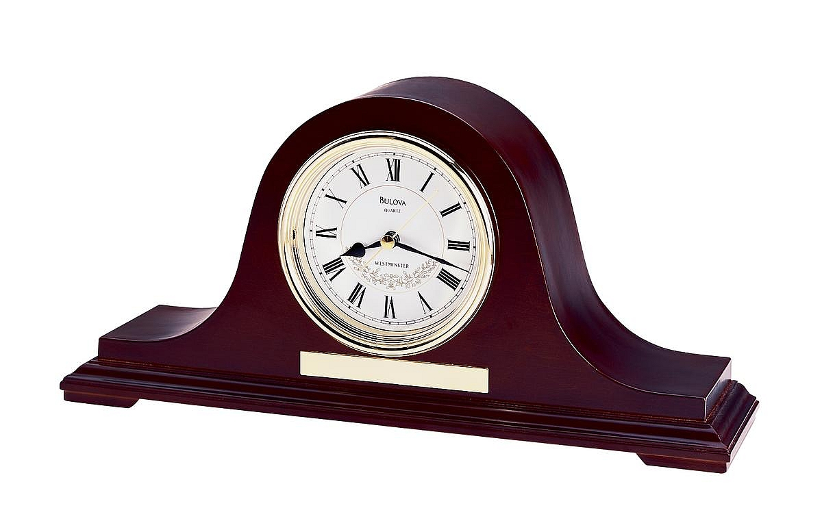 Decor Astonishing Bulova Mantel Clock For Home Decoration
