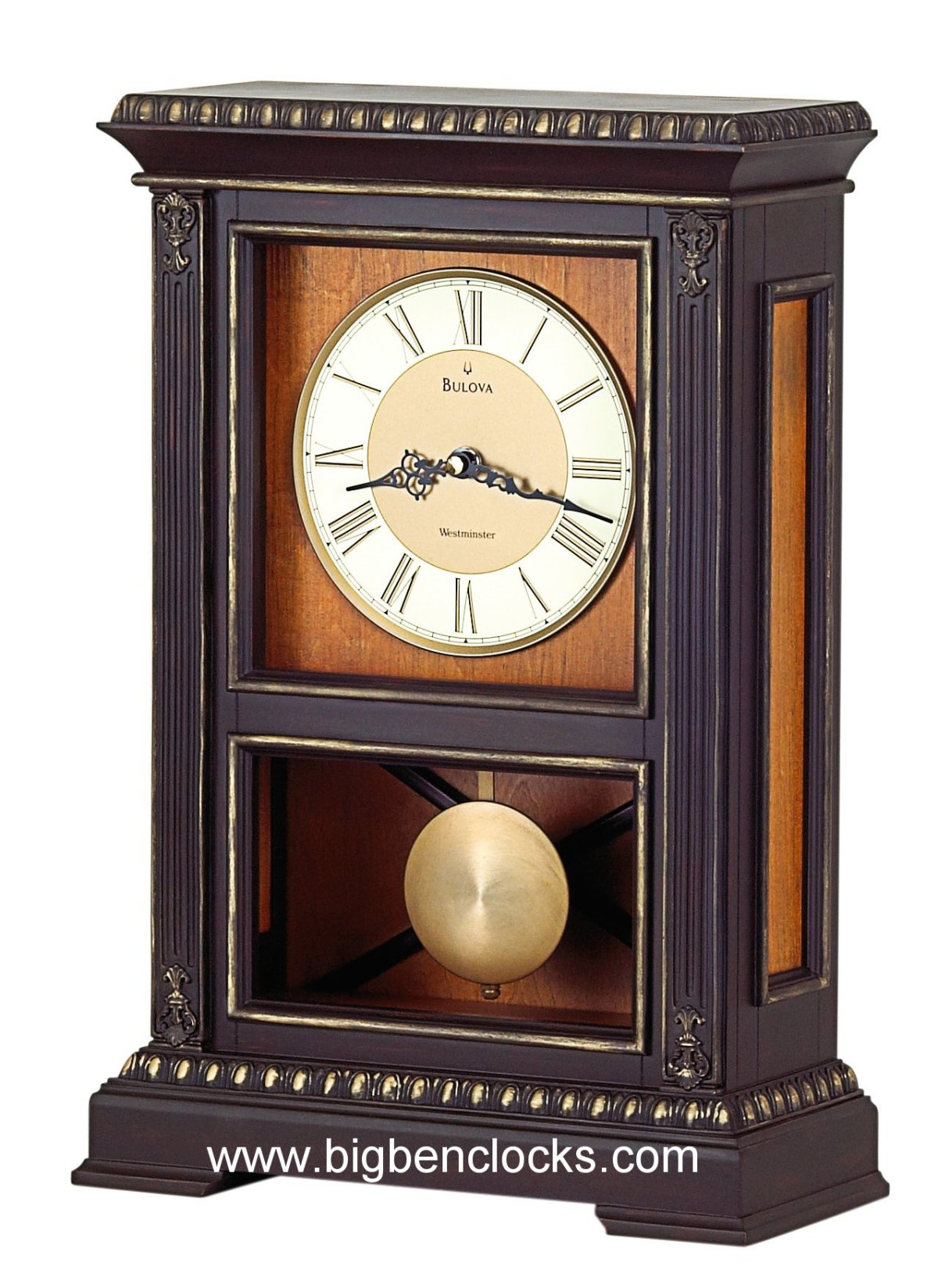 Bulova Mantel Clock | Bulova Clock | Brass Mantel Clocks