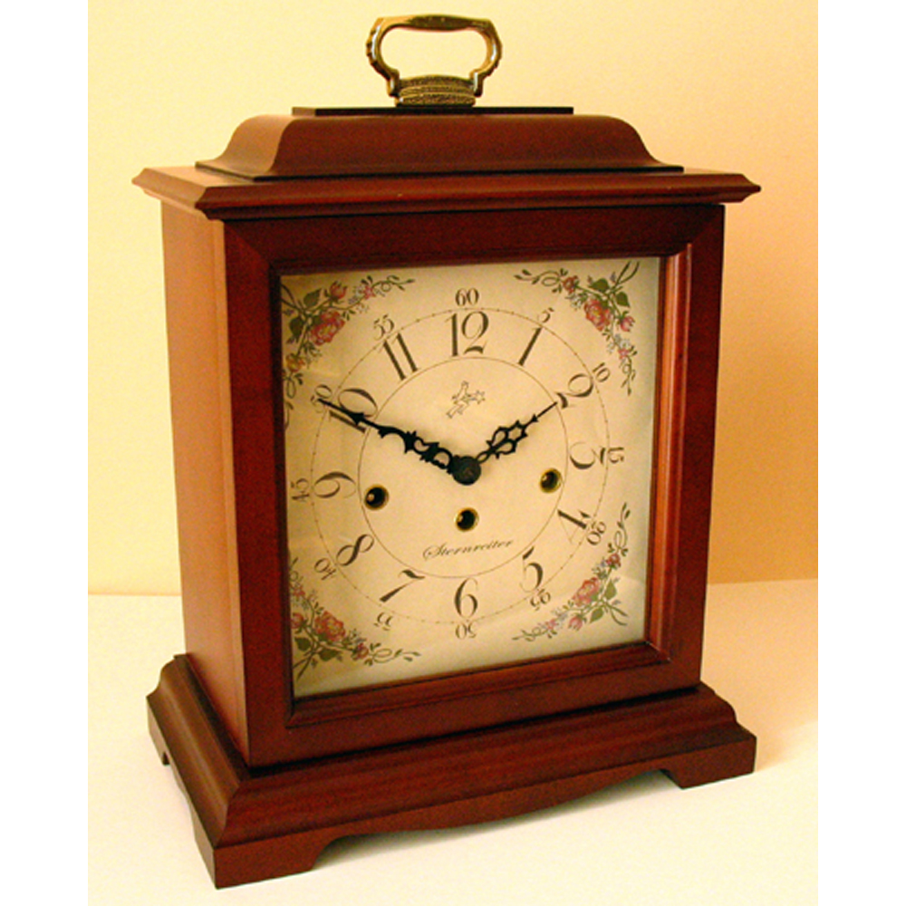 Bulova Mantel Clock | Bulova Desk Clock | Wood Mantel Clock