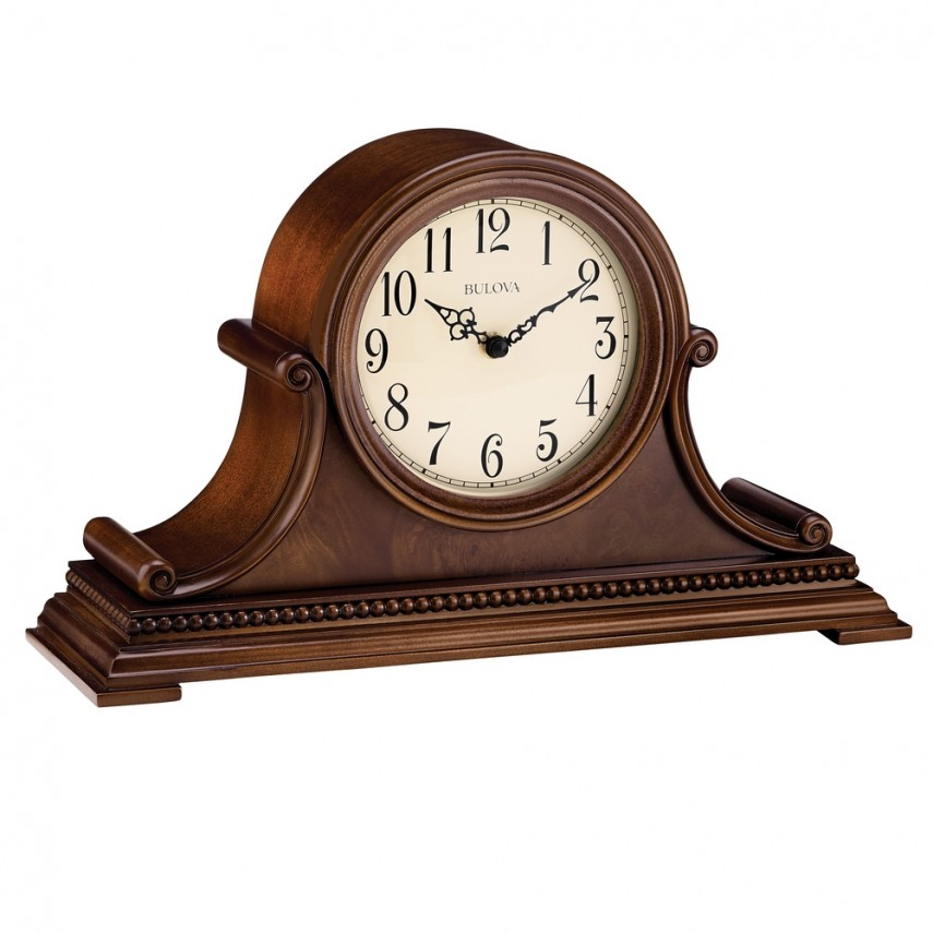 Bulova Mantel Clock | Bulova Tabletop Clock | Modern Mantle Clock