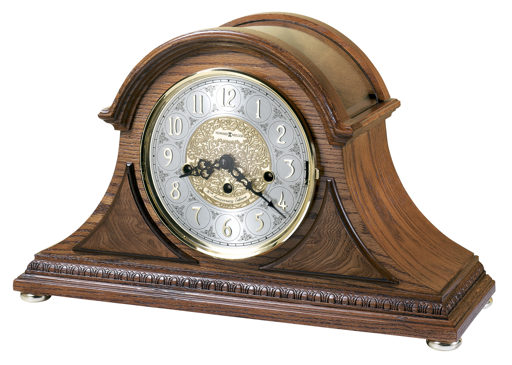 Bulova Mantel Clock | Bulova Westminster Clock | Large Silver Mantel Clock