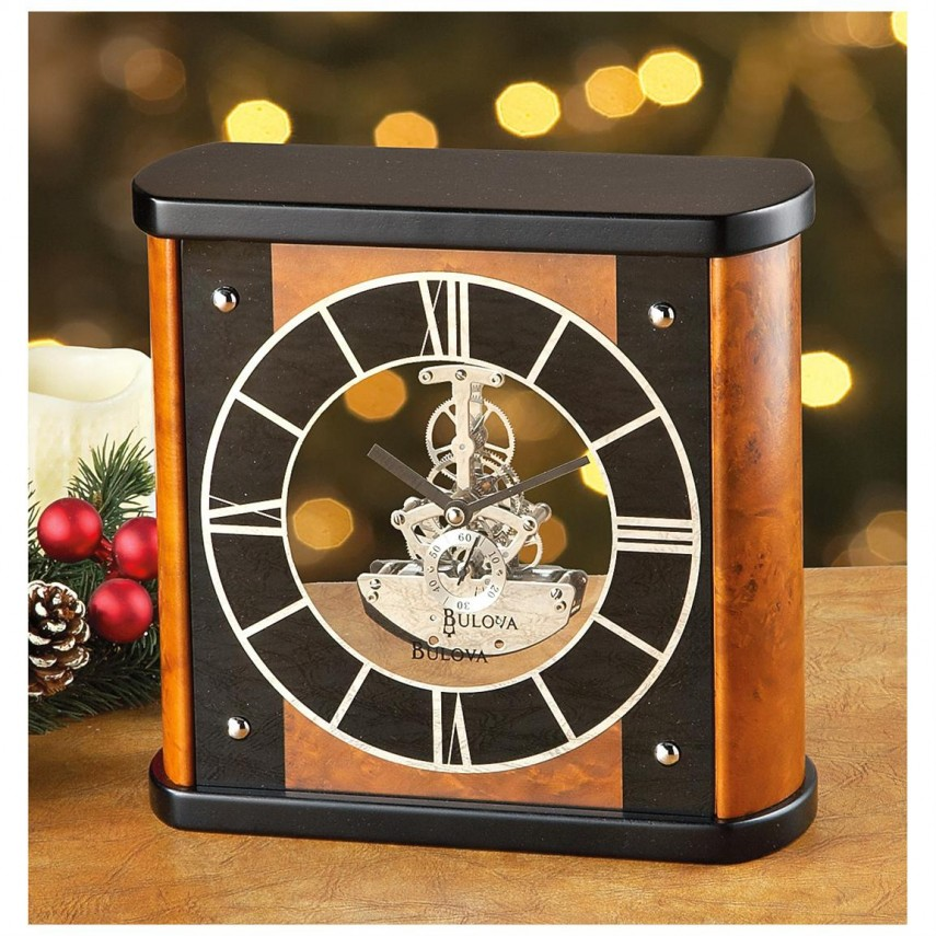 Bulova Mantel Clock | Fireplace Mantel Clock | Bulova Quartz Wall Clock