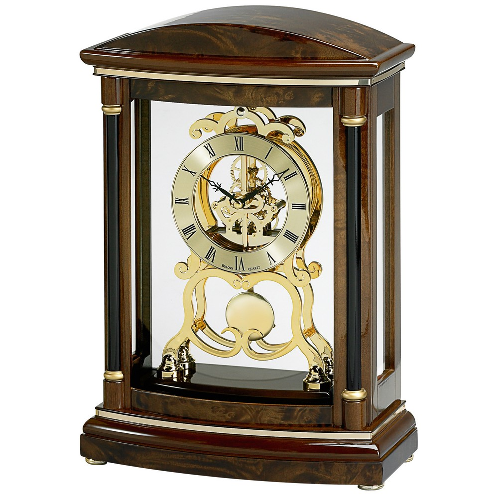 Bulova Mantel Clock | Modern Mantel Clock | Small Mantel Clocks