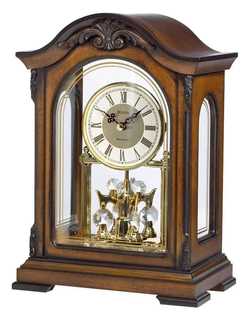 Bulova Pendulum Clock | Large Mantle Clock | Bulova Mantel Clock