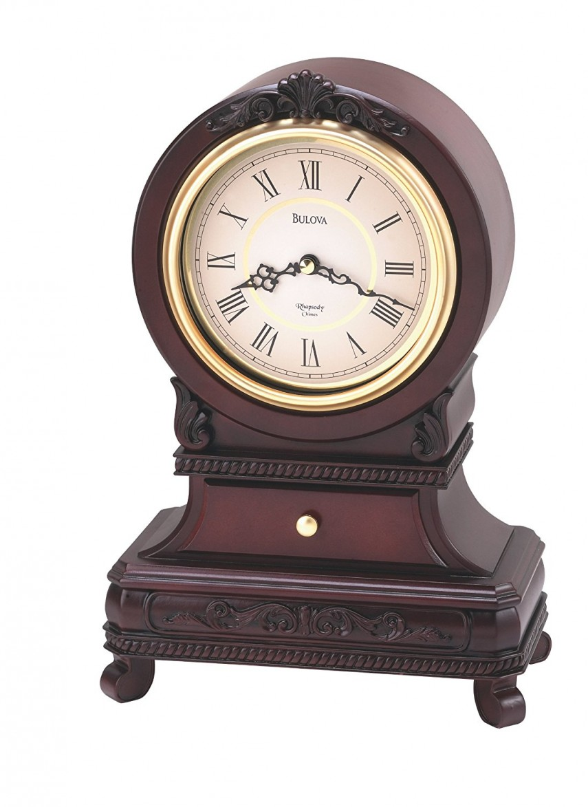 Bulova Quartz Mantel Clock | Mantle Piece Clock | Bulova Mantel Clock