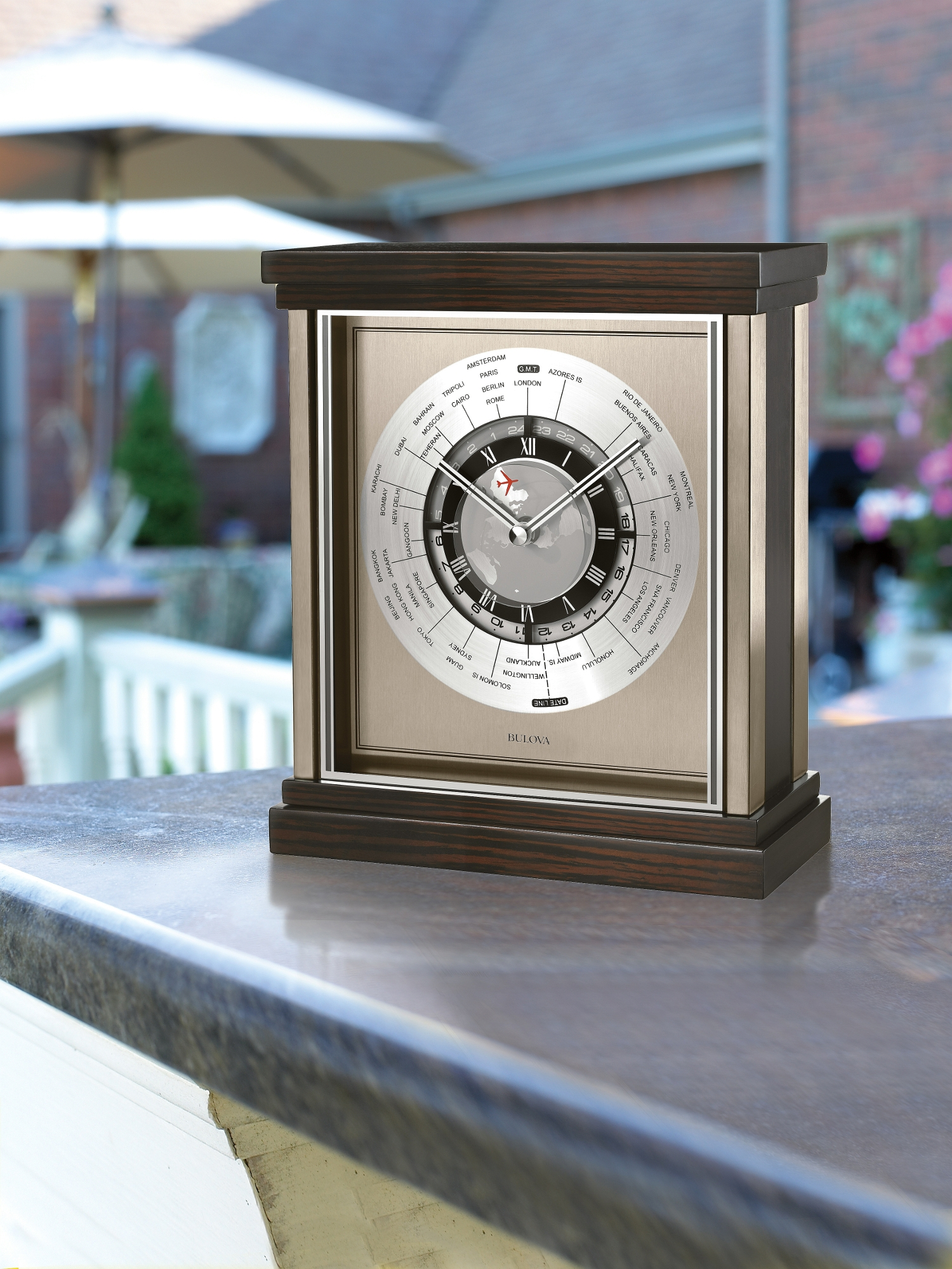 Bulova Valeria Mantel Clock | German Mantel Clocks | Bulova Mantel Clock