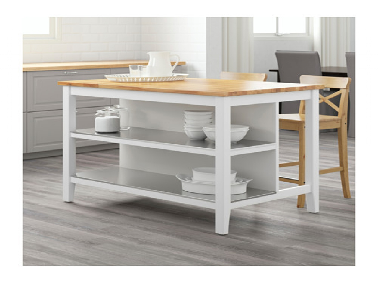 Butcher Block Kitchen Island Ikea | Stenstorp Kitchen Island | Ikea Portable Island