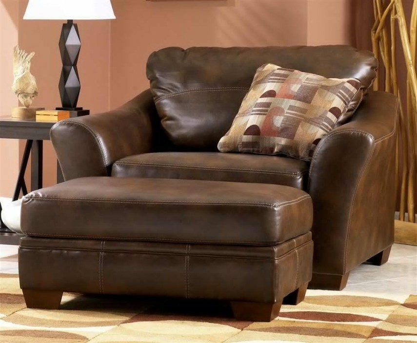 Chair And Ottoman Sets | Oversized Chairs For Living Room | Leather Chair And Ottoman