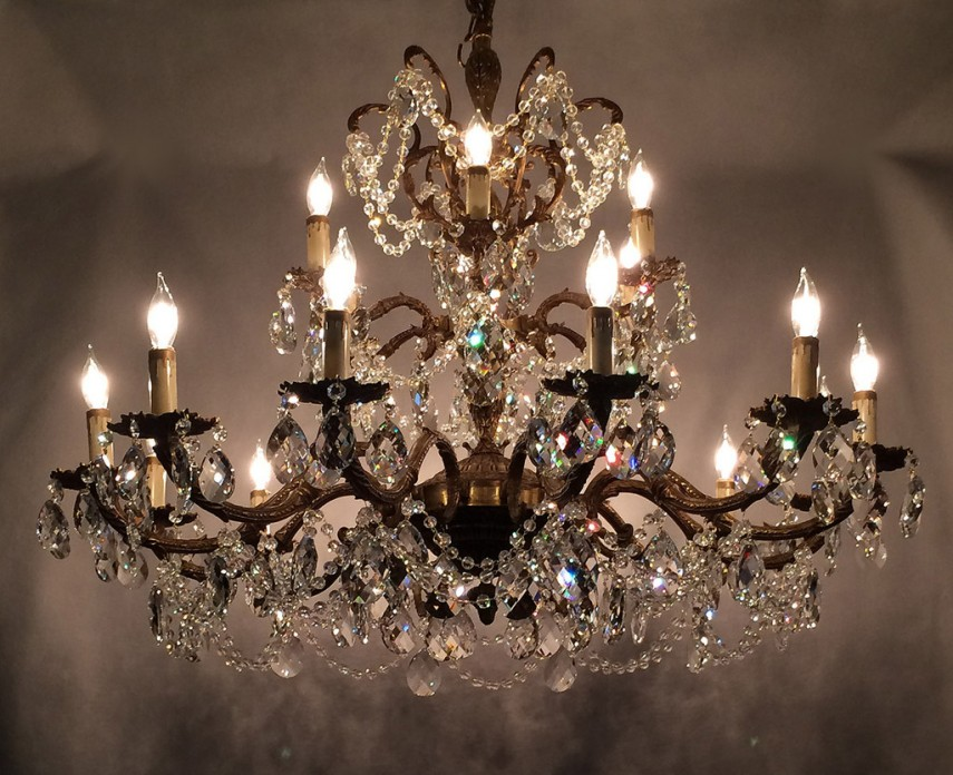 Chandelier Crystals | Rectangle Crystal Chandelier | Brushed Nickel Crystal Chandelier