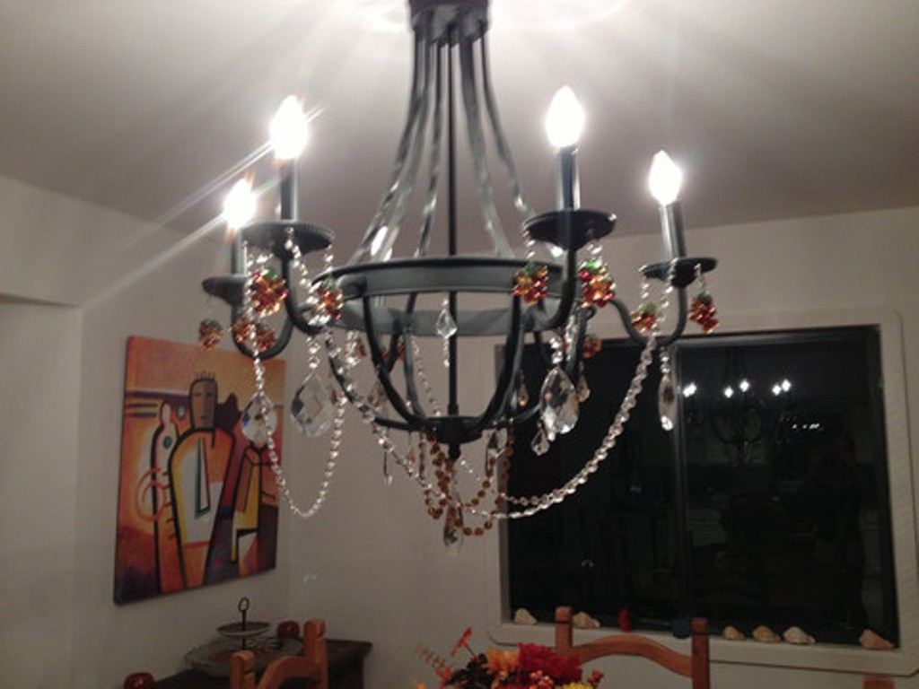 Chandelier Crystals | Replacement Chandelier Crystals | Crystal Chandelier Ceiling Fan Combo