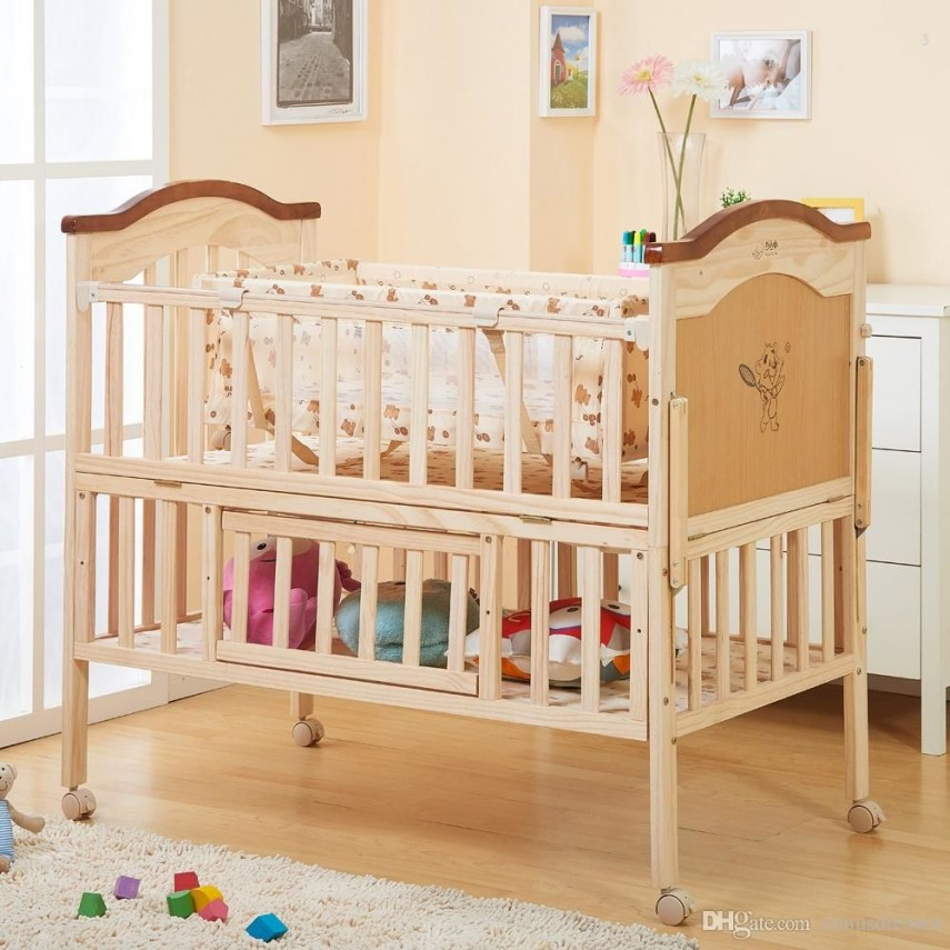 Cheap Portable Cribs | Cribs With Solid Back Panel | Cheap Cribs
