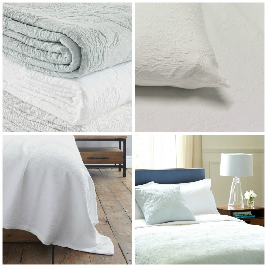 Chenille Bedspread Queen Size | Oversized Matelasse Bedspread | Matelasse Bedspreads