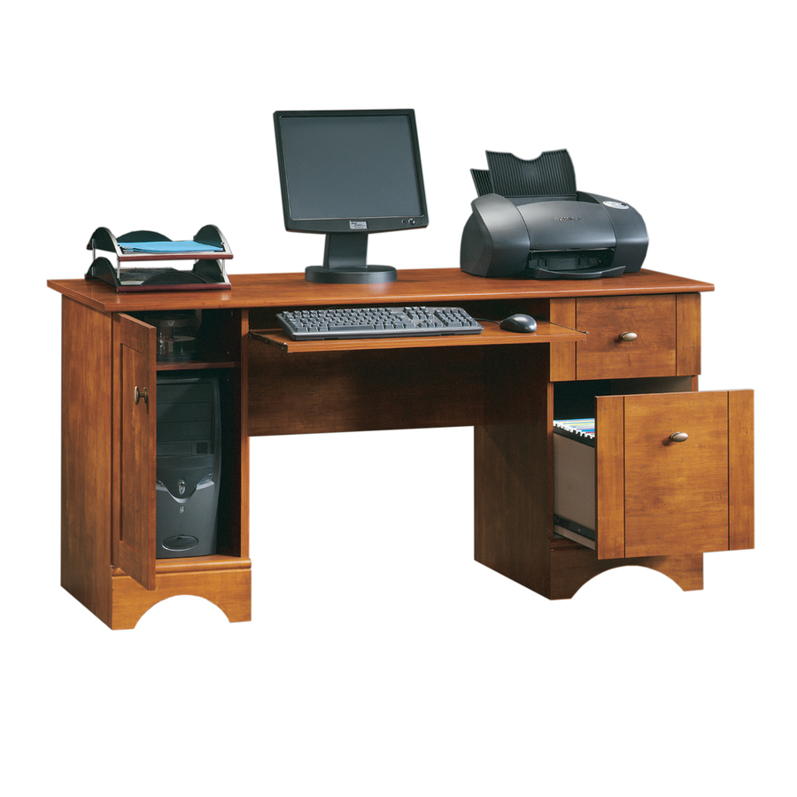 cherry desk with hutch sauder computer desks desks staples