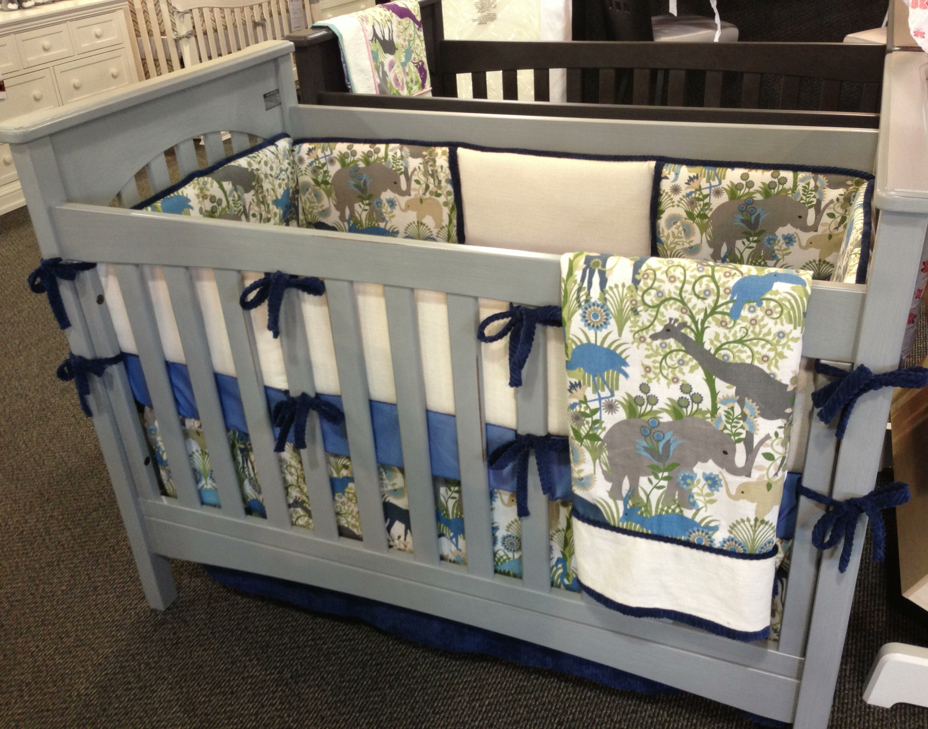 Cherry Wood Crib with Changing Table | Cheap Cribs | Cheap Portable Crib