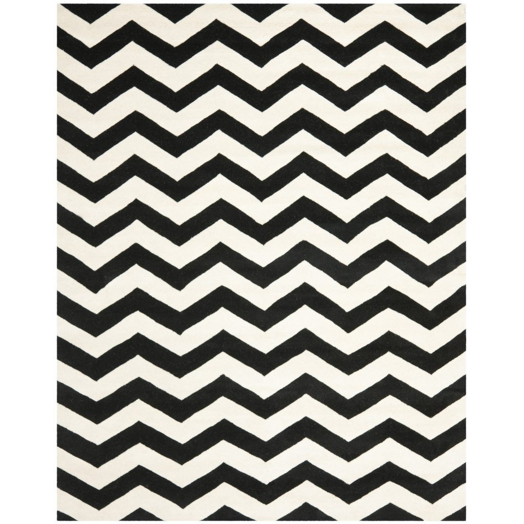 Chevron Rug | Chevron Rugs | Black and White Chevron Bath Rug