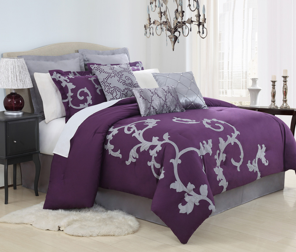 Comforter Sets Purple | Purple Comforter Sets | Purple King Comforter Sets