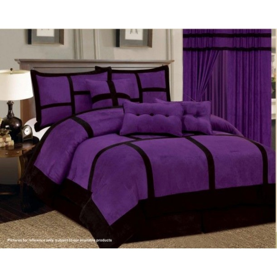 Comforter Sets Queen Purple | Purple Comforter Sets | Purple Flower Comforter Set