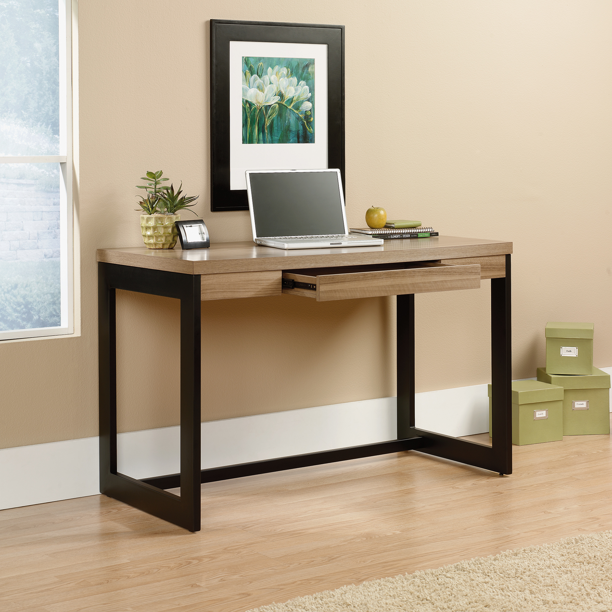 Computer Hutch Desk | Sauder Computer Desks | Credenza Desk with Hutch
