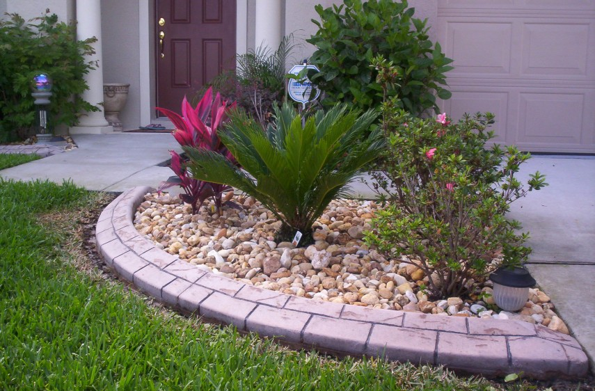 Concrete Landscape Edging | Landscape Edging Ideas | Home Depot Bricks
