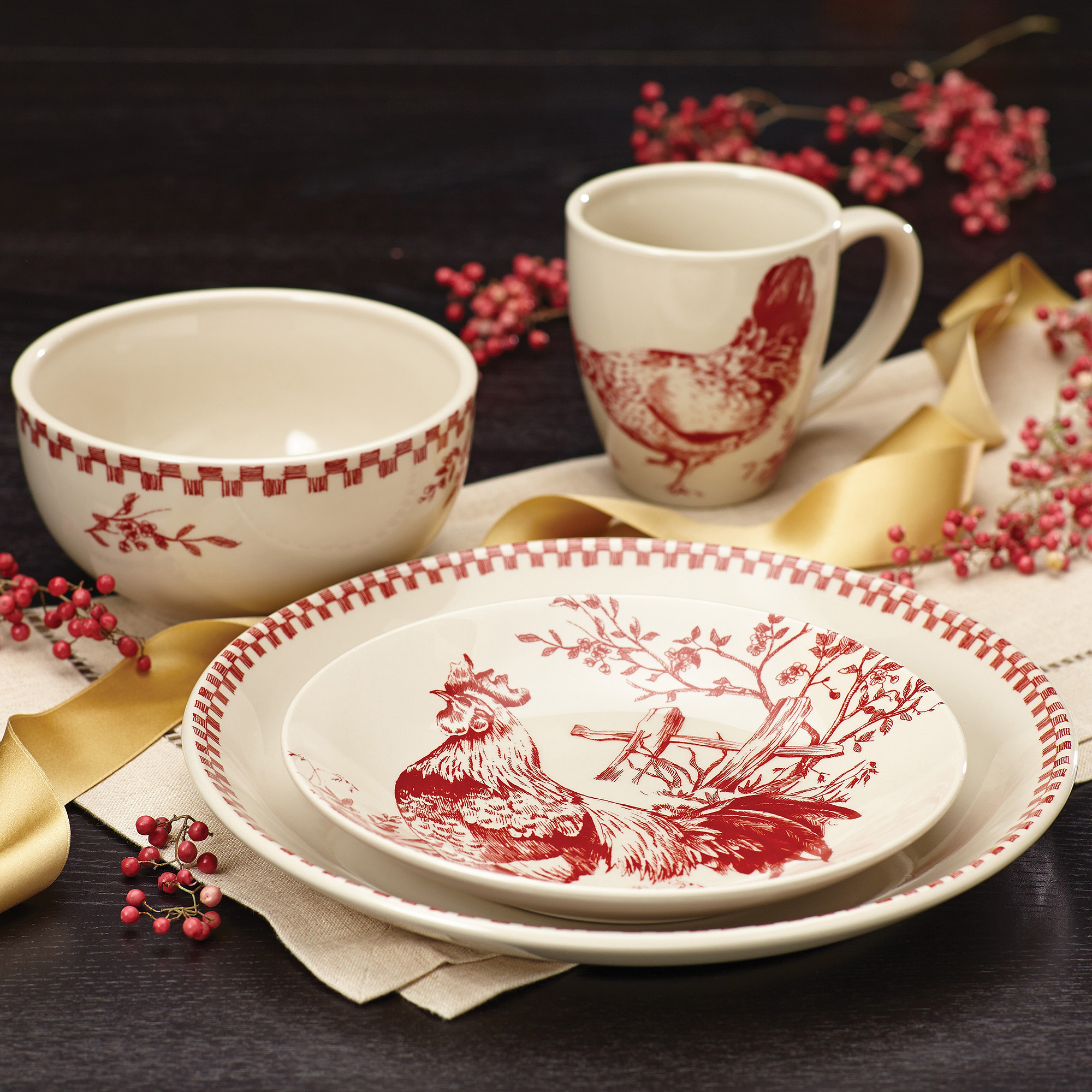 Country Dinnerware | Colorful Dinnerware | Stoneware Dinnerware Sets