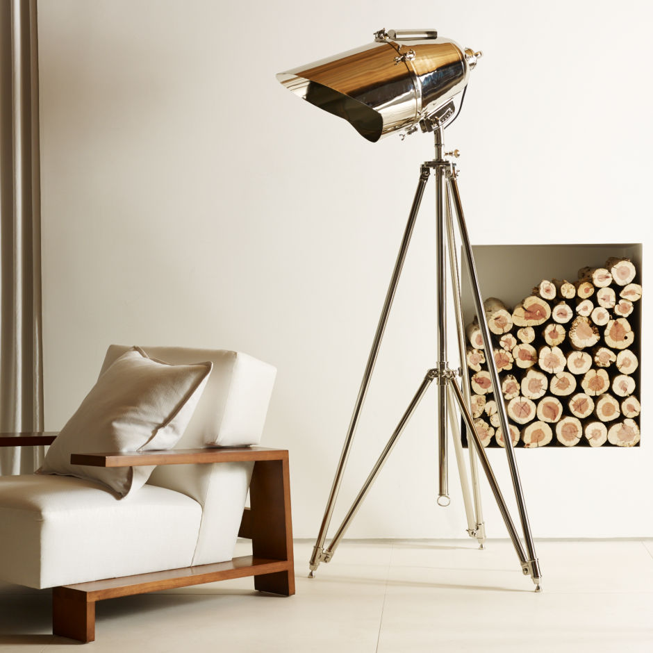 Crate and Barrel Lamp | Adjustable Floor Lamp | Tripod Lamp