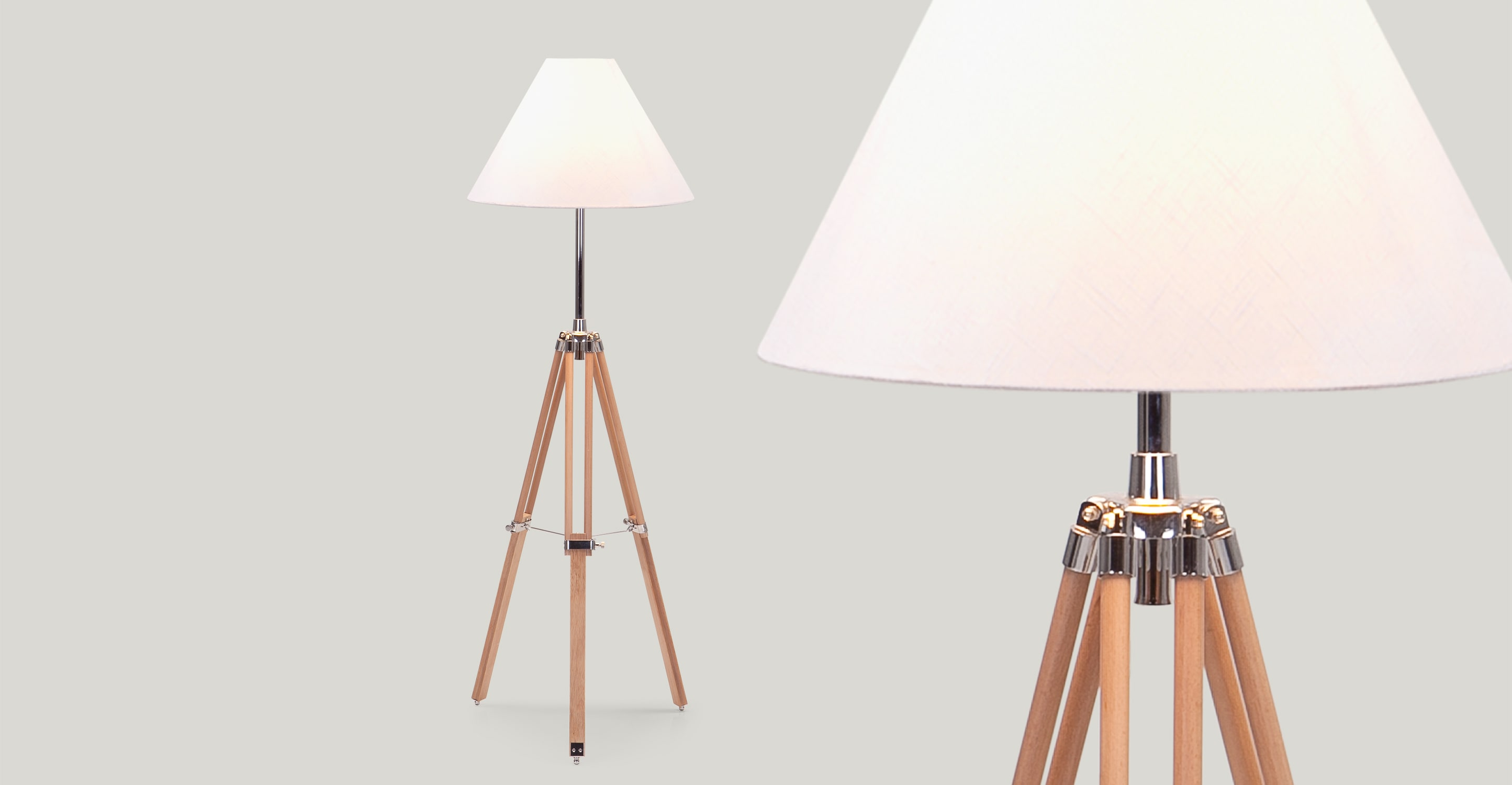 Awesome Tripod Lamp for Interior Lighting Ideas: Crate Flooring | Tripod Studio Floor Lamp | Tripod Lamp