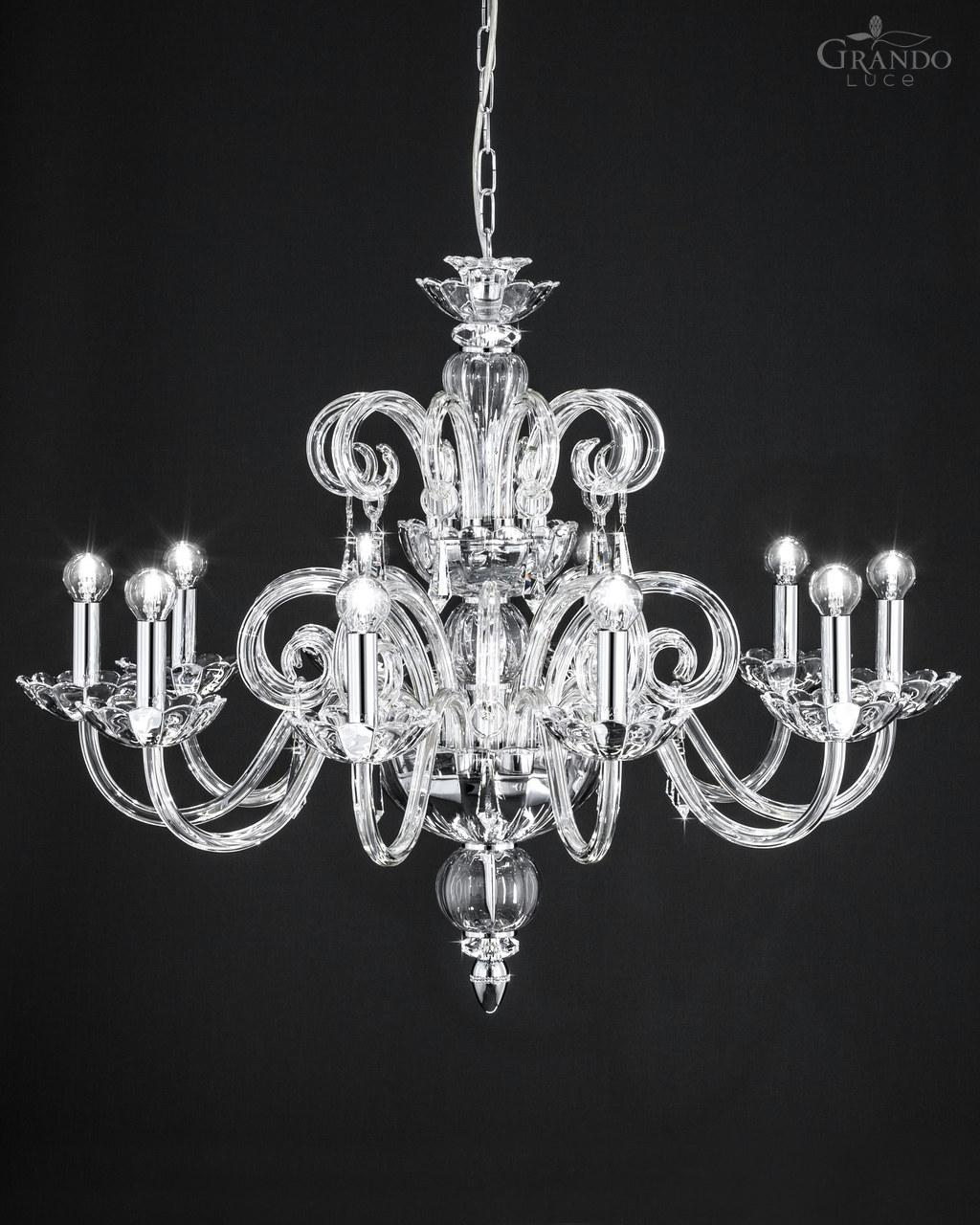 Crystal Chandelier Ceiling Fan Combo | Wrought Iron and Crystal Chandelier | Chandelier Crystals