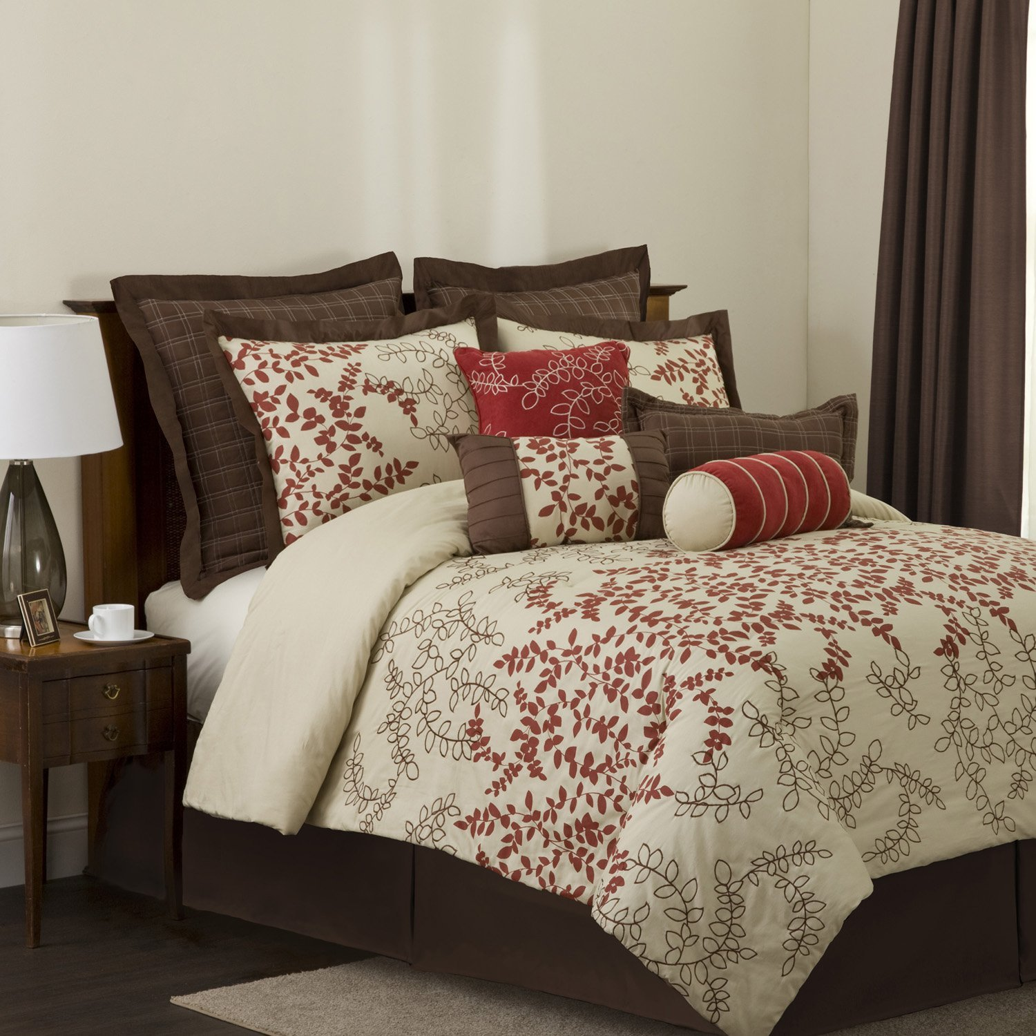 queen set photo seashore beige pictures comforter of x